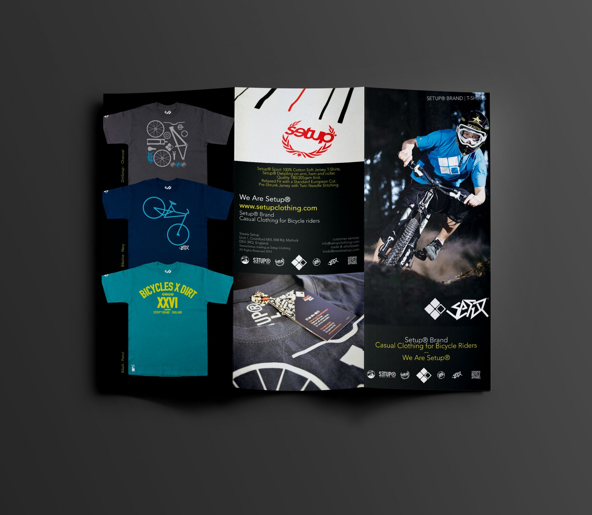 setup brochure front